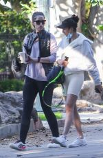 Christina Schwarzenegger Joined a friend this morning ahead of a tennis match in Brentwood