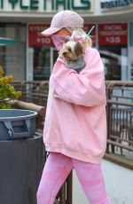 """Christine Quinn From """"Selling Sunset"""" seen making a smoothie run with a friend and her pooch"""