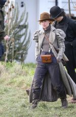 Claire Danes & Frank Dillane Wears Victorian costumes while filming scenes for
