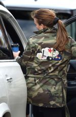 Coleen Rooney Grabbing a drink from Cafe Nero in Cheshire