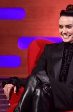 Daisy Ridley On the Graham Norton show in London
