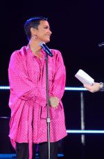 Demi Lovato Performs onstage during the Premiere Event Of Her New YouTube Originals Docuseries in Beverly Hills