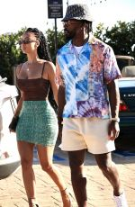 Draya Michele Puts on a leggy display at a gas station before stepping out to lunch in Malibu