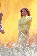 Elsa Pataky Looks stunning in various citrus tone looks as she stars in a photoshoot in Sydney