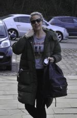 Gemma Atkinson Is all smiles as she arrives at Hits Radio in Manchester