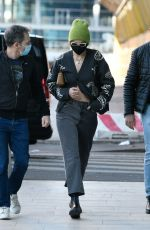 Gigi Hadid Seen arriving at the Versace office in Milan, Italy