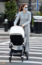 Gigi Hadid Steps out for a morning stroll with her baby in New York