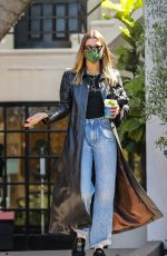 Hailey Baldwin/Bieber Looks flawless as she leaves a pampering session in West Hollywood