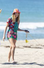Hailey Baldwin/Bieber Spotted doing a photoshoot on the beach in Malibu