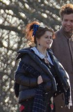 Helena Bonham Carter Steps out at the park with her boyfriend Rye Dag Holmboe in North London