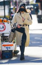 Irina Shayk Looks stylish while out on a coffee run in New York