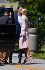 Ivanka Trump And Jared Kushner share a kiss after visiting new parents Karlie Kloss and Josh Kushner in Miami Beach