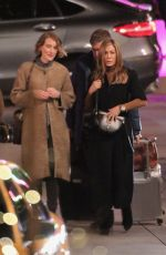 "Jennifer Aniston & Reese Witherspoon Work into the night on the set of ""The Morning Show"" in Los Angeles"