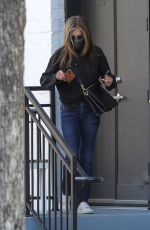 Jennifer Aniston Spotted leaving a hair salon in Beverly Hills