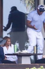 Jennifer Lopez Attends a meeting with her team in Rio San Juan
