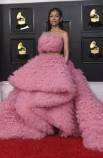 Jhené Aiko At 63rd Annual Grammy Awards in Los Angeles