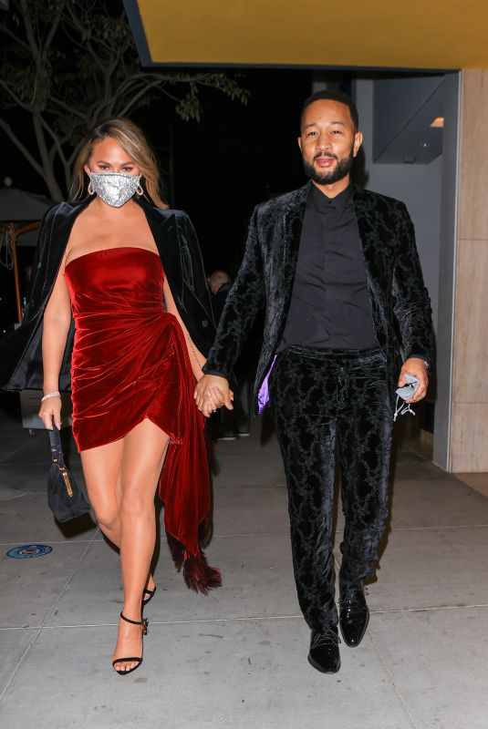 John Legend and wife Chrissy Teigen stun as they celebrate his Grammy win