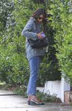 Jordana Brewster Heads to a meeting in Hollywood