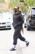 Justine Skye Head to pilates for a workout session with BFF Hailey Bieber