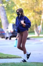 Kaia Gerber Heads to her Pilates class in Los Angeles