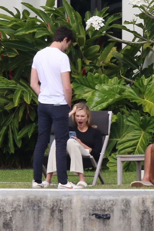 Karlie Kloss Spotted mid yawn on a Sunday afternoon in Miami Beach