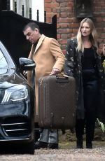 Kate Moss Looks effortlessly stylish as she leaves her North London address