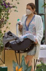Katharine McPhee And David Foster are spotted out as a family for the first time as they enjoy a birthday brunch in Beverly Hills