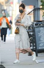 Katie Holmes Leaving Cafe Belle in NYC