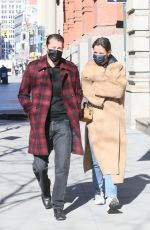 Katie Holmes Out for a walk in NY