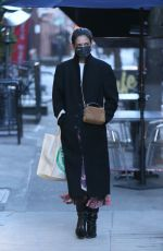 Katie Holmes Wears a warm and stylish ensemble while out shopping in chilly New York