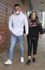 Katie Price and boyfriend Carl Woods arrive and leave from Steph