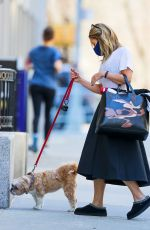 Kelly Ripa Spotted taking her dog for a walk on Saturday morning in New York City