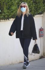 Kiernan Shipka Steps out for a workout in Beverly Hills