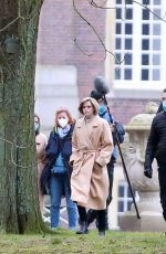 Kristen Stewart On the set of Spencer in Germany