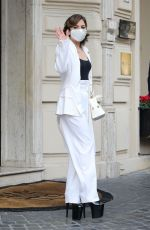 Lady Gaga Seen leaving her hotel in Rome, Italy