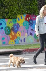 Lady Victoria Hervey Spotted glued to her phone while walking her dog through West Hollywood