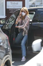 Laura Dern Picks up lunch from Farmshop at the Brentwood Country Mart in Brentwood