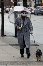Lili Reinhart Walking her dog in Vancouver