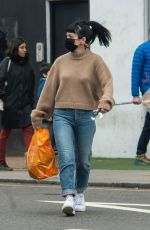 Lily Allen Steps out with some unusual earrings and 8 piercings in one ear in London