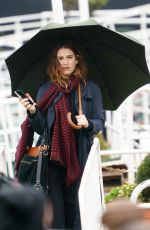 Lily James On the set of What