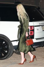 Lindsey Vonn Looks chic in an olive green gown as she is spotted leaving dinner at Nobu in Malibu