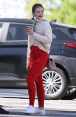 Lucy Hale Going to pilates class in LA