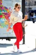 Lucy Hale Grabs an Iced Coffee after a workout