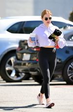 Lucy Hale Leaving a gym in Los Angeles
