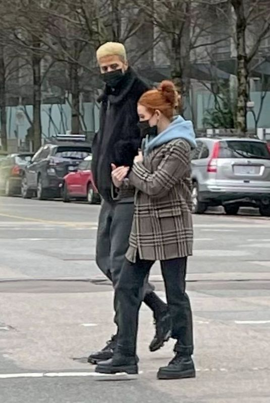 Madelaine Petsch Grabs coffee with boyfriend Miles Chamley-Watson in Vancouver, Canada