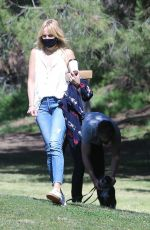 Malin Akerman Seen at a local park in Los Angeles