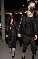 Megan Fox Dining at BOA steakhouse in Los Angeles