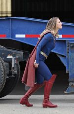 Melissa Benoist Returns to the set of