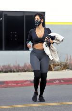 Nicole Murphy Spotted leaving a gym in Los Angeles