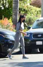 Nicole Scherzinger Pictured leaving her personal trainers gym in Los Angeles
